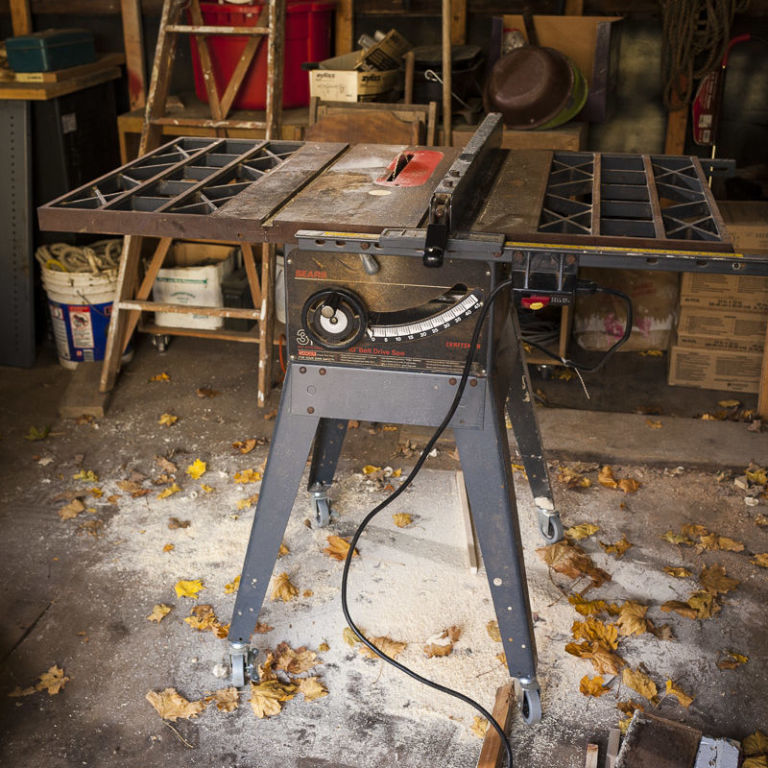 cast iron table saw rust removal 1
