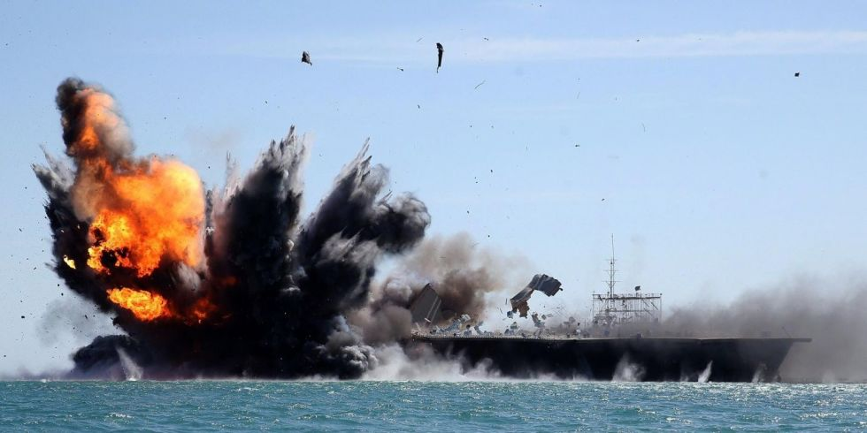 Iran Just Blew Up A Fake American Aircraft Carrier - Us aircraft carrier locations map