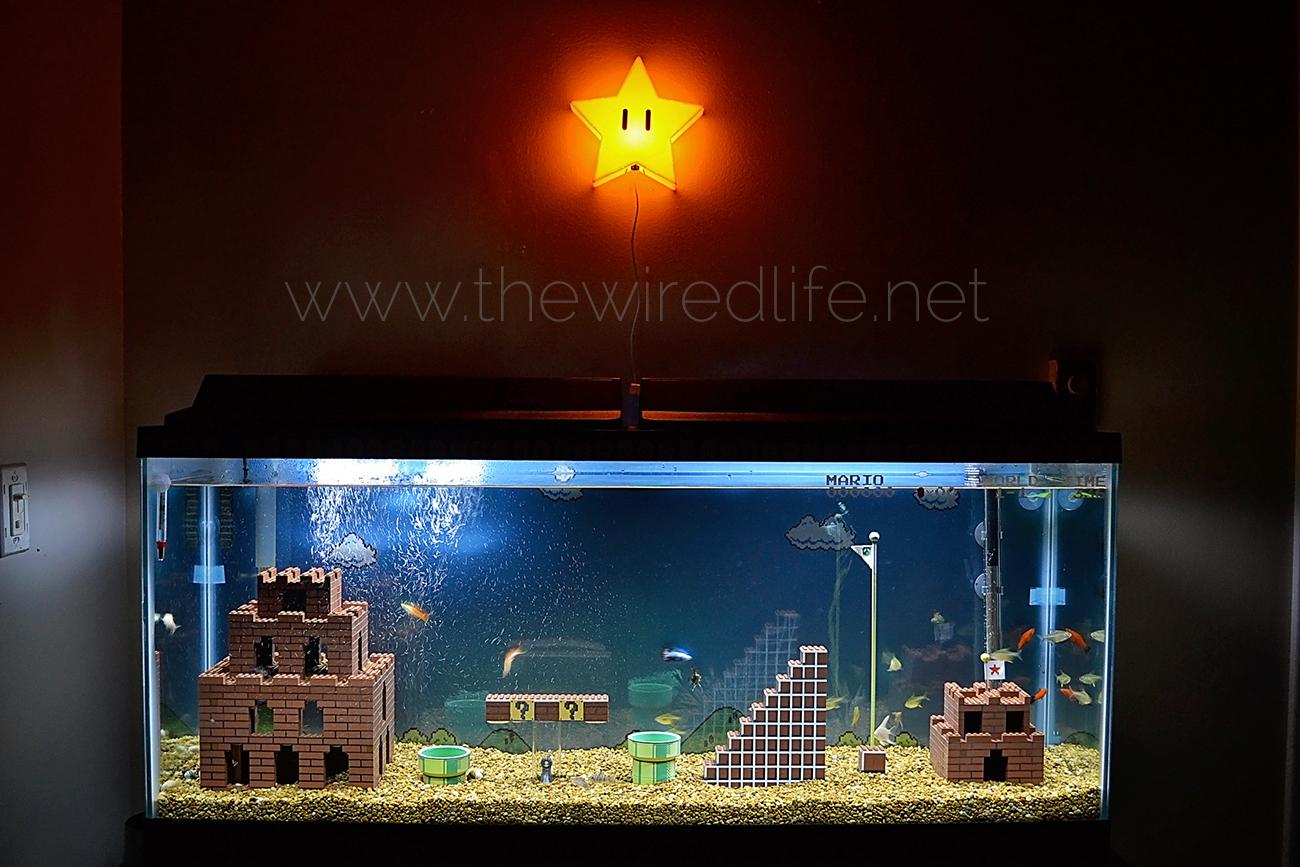 Here 39 s a super mario bros aquarium made of lego for Mario fish tank
