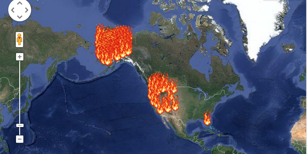 An Interactive Map That Shows All The Places The US Is On Fire - Map of west us states