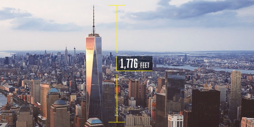 Time to build: 7 yearsCost to build: $3.8 billionThe tallest building in the Western Hemisphere rises a symbolic 1,776 feet above New York City. The largely steel structure also includes a concrete core that provides additional security and strength. It's almost as if there's a second skyscraper within the first.