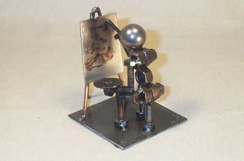 how to make nuts and bolts sculptures