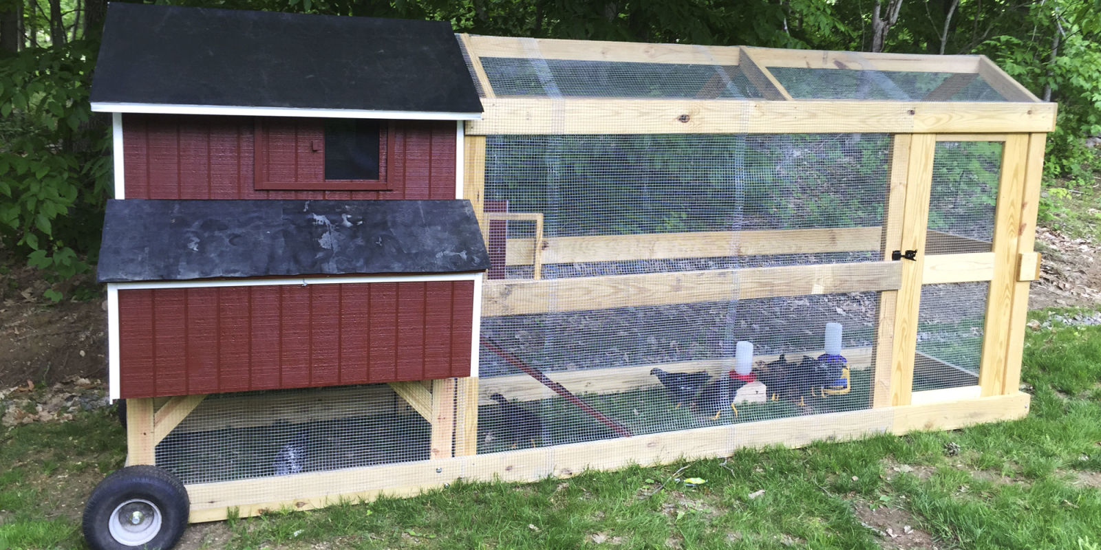 This guy built a brilliant chicken coop on wheels for How to build a movable chicken coop