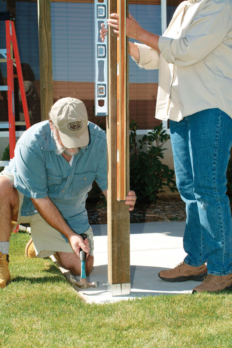 Cost to build pergola - Installing The Posts