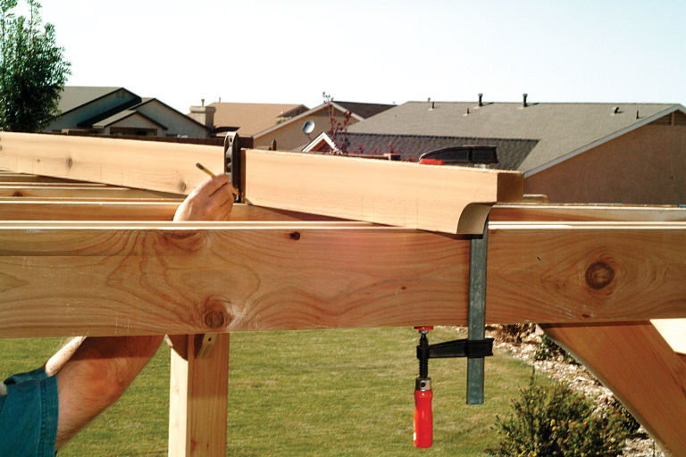 Fitting the Top Slats - How To Build A Pergola Step By Step - DIY Building A Pergola