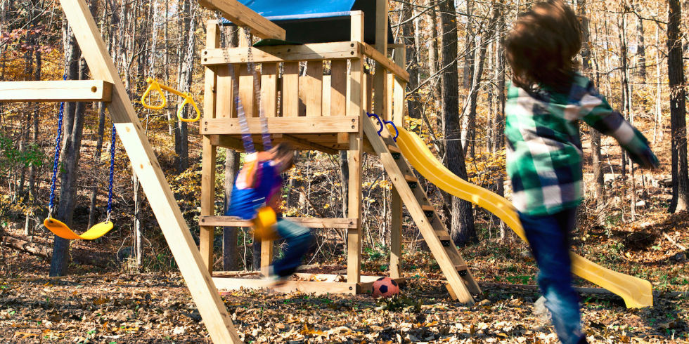 This Classic Backyard Playground Is Made Partly From A Kit And Partly From  Lumber You Find And Cut Yourself. Follow These Plans And In One Weekend  Youu0027ll Be ...