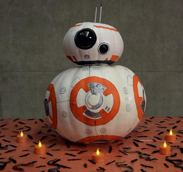 A Star Wars Bb 8 Jack O Lantern Was An Adorable