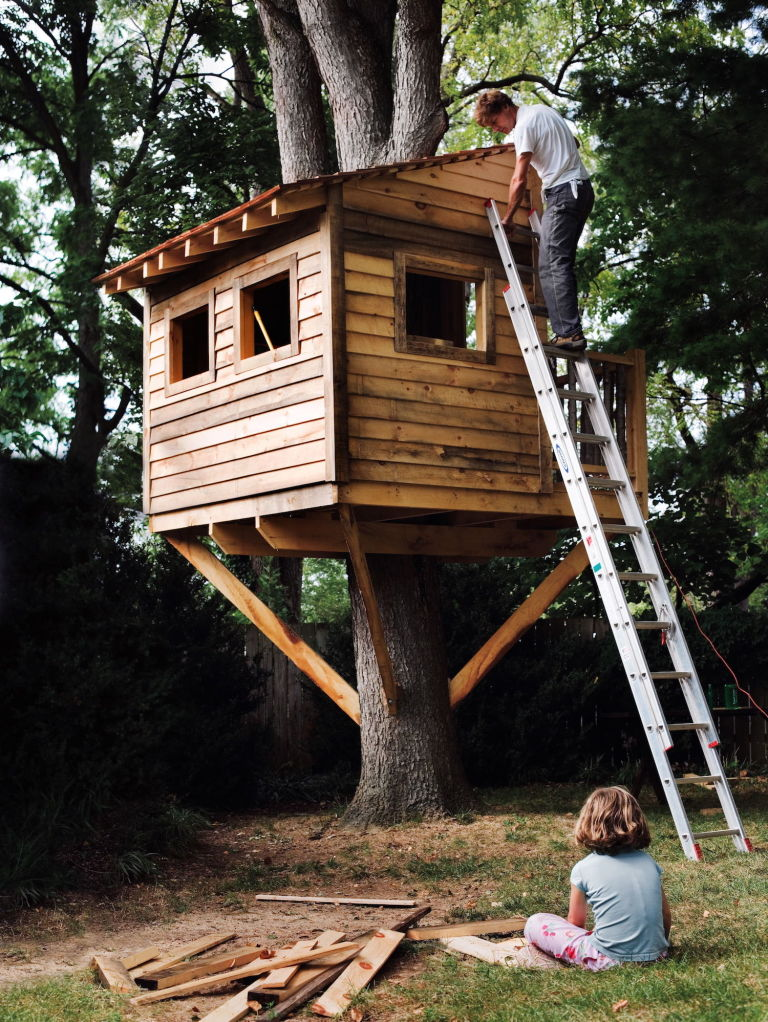 Want to build a treehouse for my son but have no idea for Building a house where to start