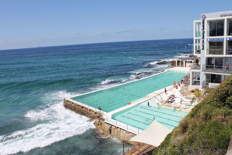 The Bondi Icebergs pool in Sydney has been wowing crowds for more than a century. Built basically on top of the Tasman Sea, this Olympic-size public pool acts as an extension of the sea itself. When the waters outside are rough, waves crash into the pool, dousing swimmers as if they were out in the open ocean. The pool gets its water directly from the sea, though its concrete walls keep the H20 even cooler than it normally is—reaching temps as low as 60 degrees Fahrenheit during their winter. The pool also boasts a massive deck where guests can sit back with a burger, fries, and beer, so bring your appetite.<br /><br />