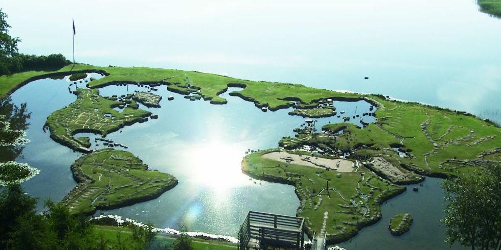 Denmarks Giant Map of the World Built from HandMade Islands