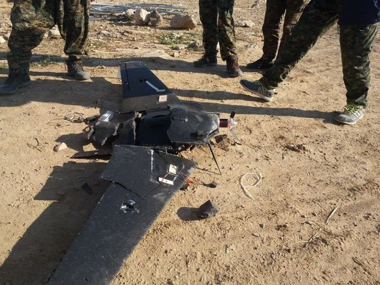 Behold the dawn on Trojan Horse drones. (Photo from Friends of YPG YPJ)