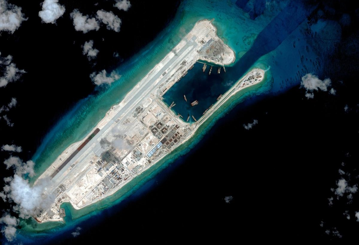 South China Sea Artificial Islands Map