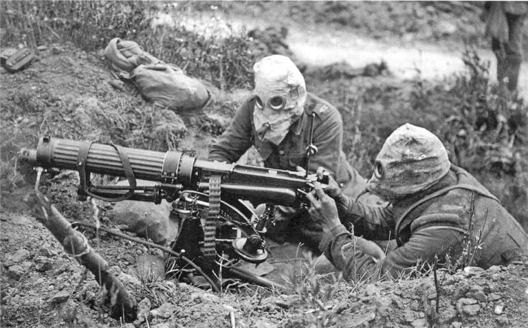 Image result for british ww1 vickers machine gun