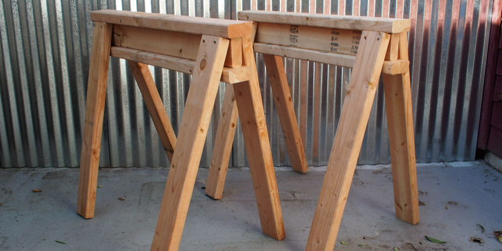how to build stackable sawhorses. Black Bedroom Furniture Sets. Home Design Ideas
