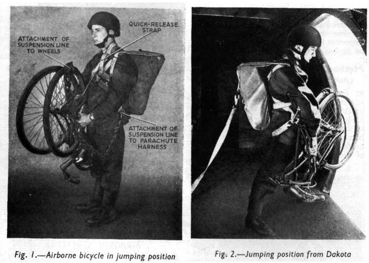 Folding bike paratrooper in WW2