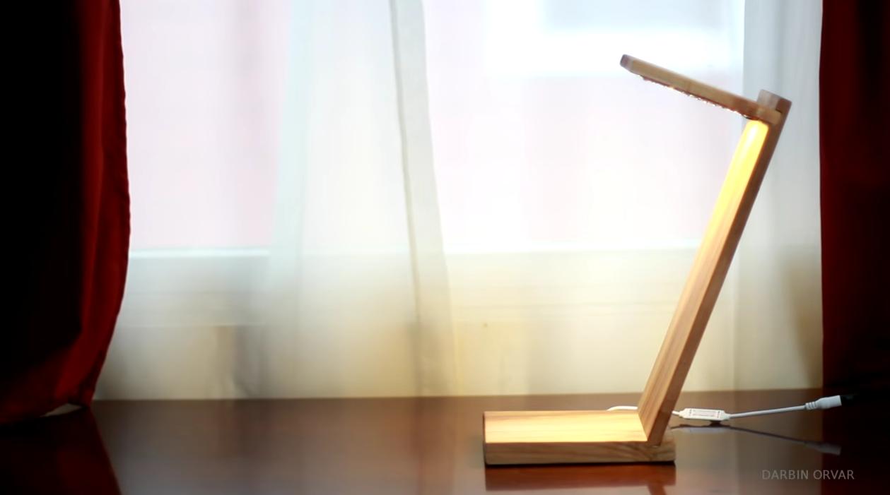 diy led desk lamp is an elegant lighting solution. Black Bedroom Furniture Sets. Home Design Ideas