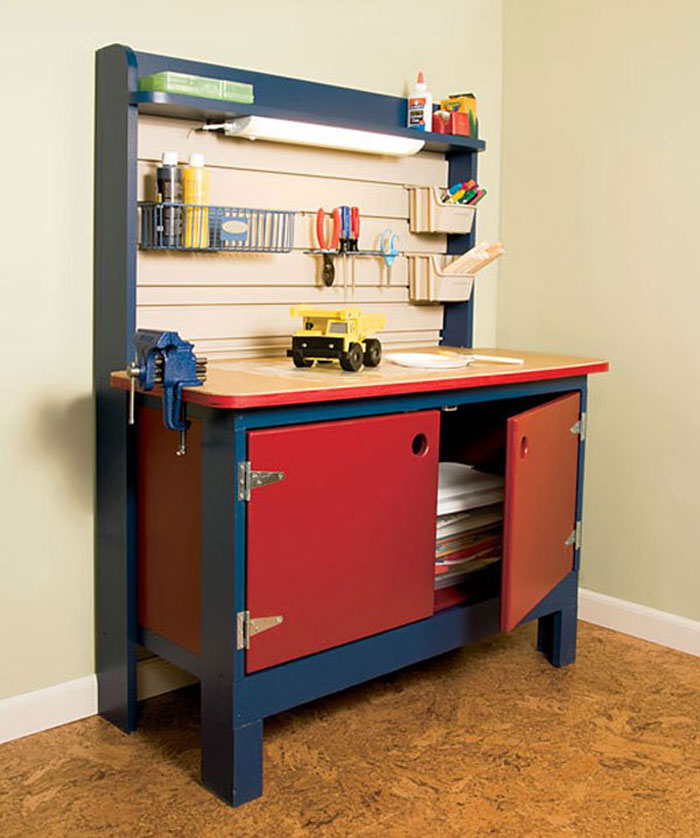 Build This Kid Sized Workbench For Your Diy Child