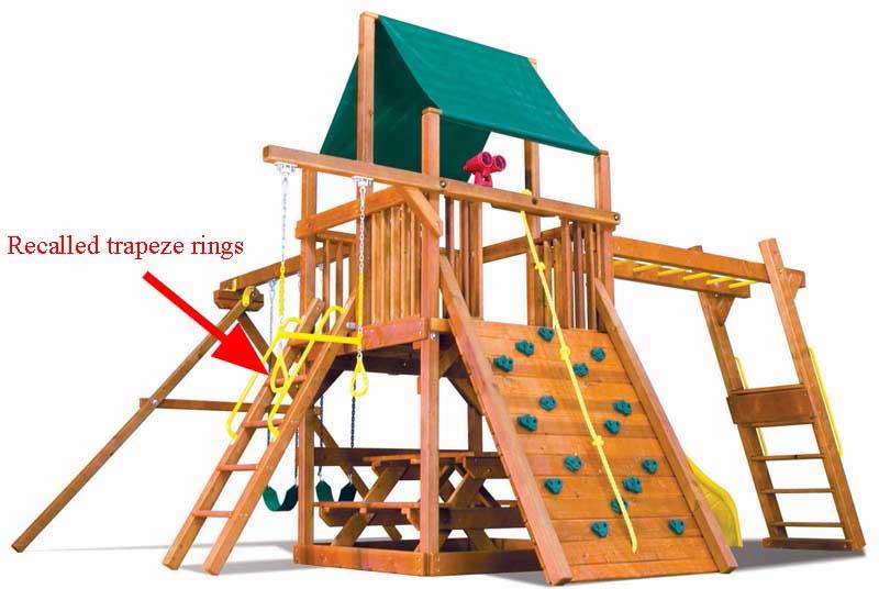 recall alert rainbow playset trapeze rings. Black Bedroom Furniture Sets. Home Design Ideas