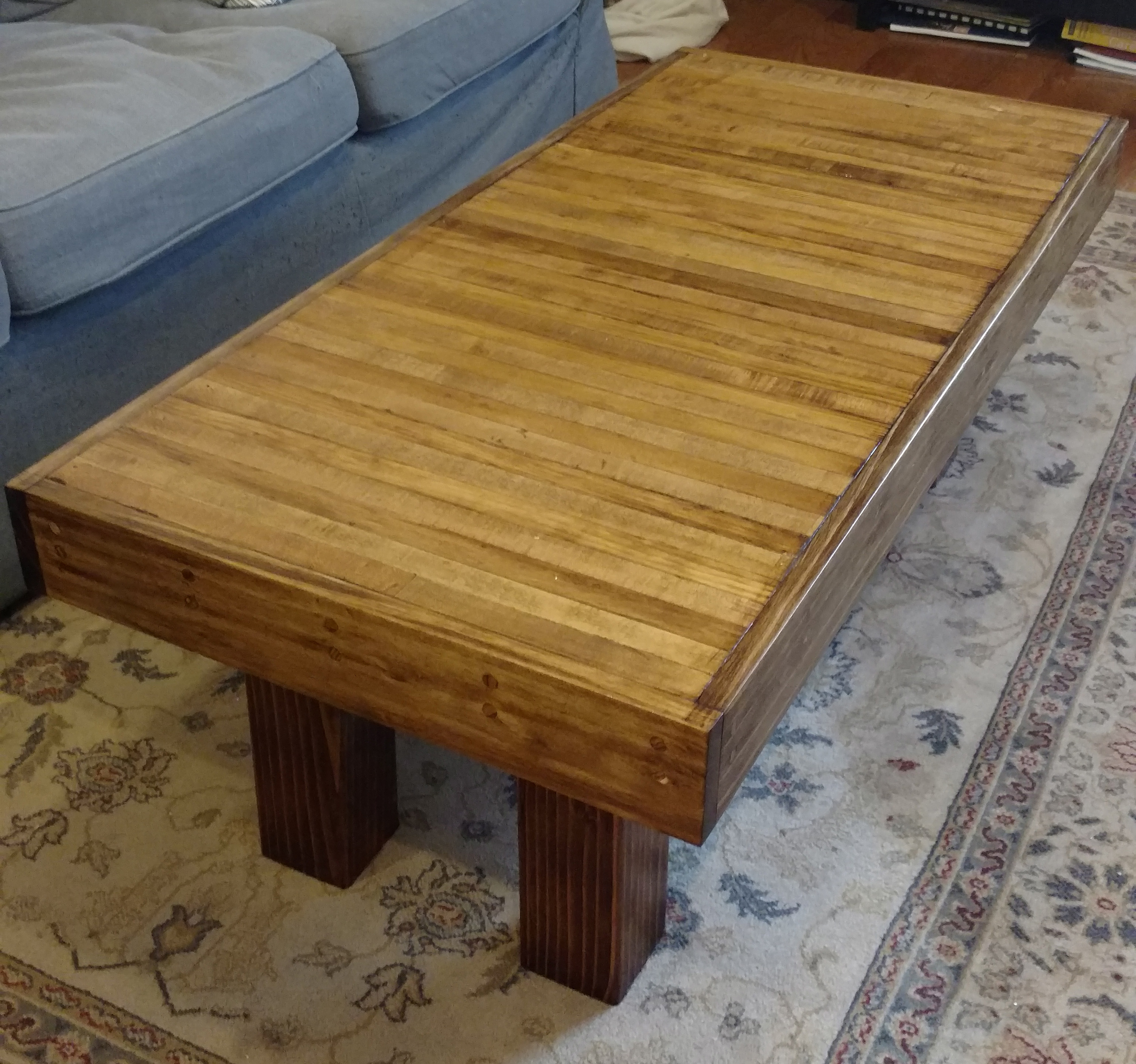 Used Lane Coffee Table: This Handsome Recycled Coffee Table Used To Be A Bowling Lane