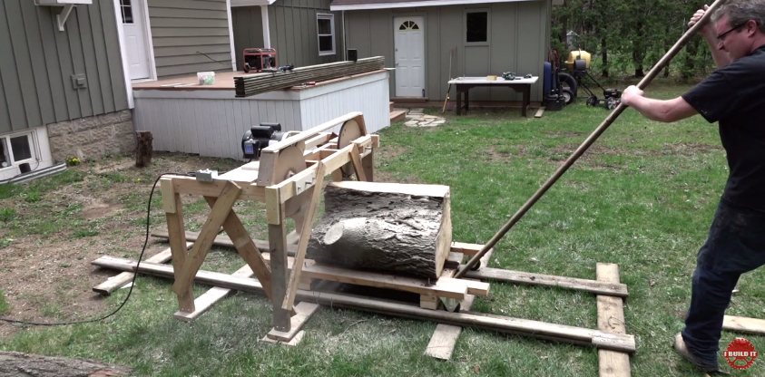 Used Portable Sawmills For Sale >> Cut Your Own Wood Slabs With a DIY Band Saw Mill