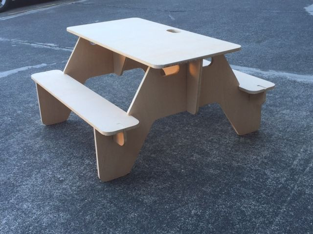 Exhibition Portable Flat Pack Furniture : Make a flat pack picnic table that you can always bring