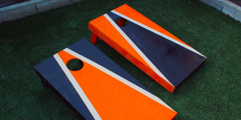 cornhole aka bean bag toss is the one of the most popular summer outdoor games hereu0027s how to build your own set of boards that will last for years to - Corn Hole Sets