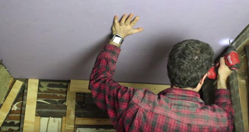 hang drywall ceiling