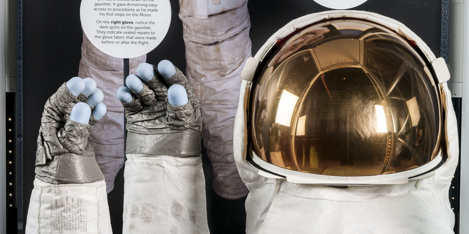 Neil Armstrong S Helmet And Gloves Are Back On Display At