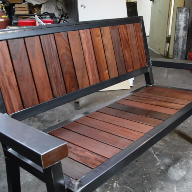 Foyer Bench Popular Mechanics : This gorgeous bench is built from ipe decking scraps