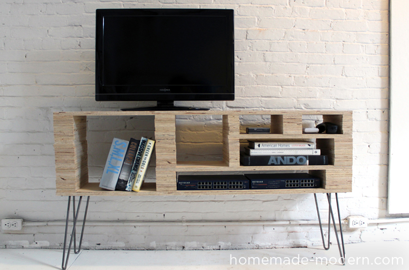 15 simple projects to make from one sheet of plywood plywood diy projects - Media consoles for small spaces plan ...