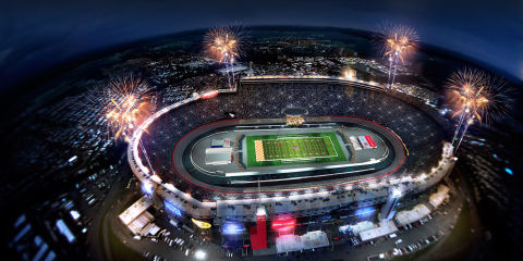 How bristol turned a racetrack into a college football stadium for Motor speedway los angeles