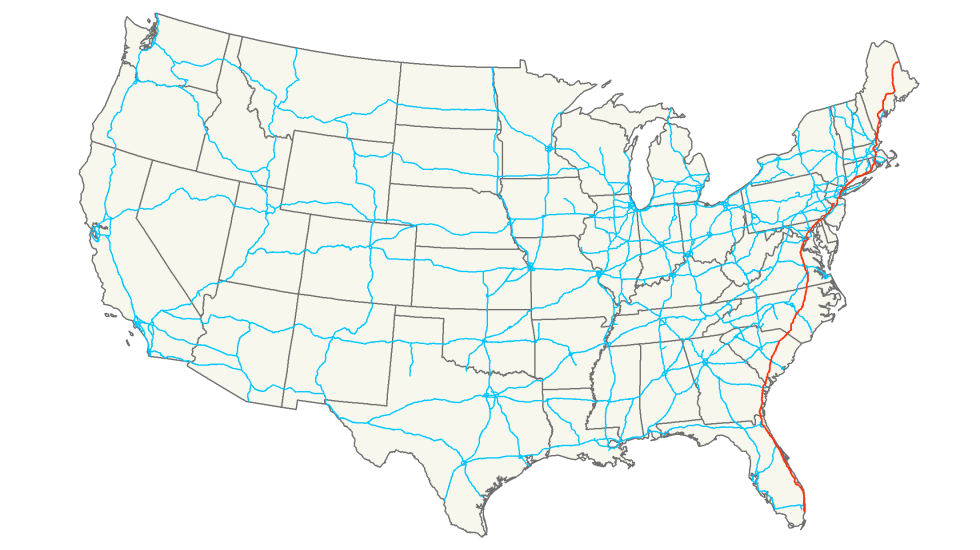 Of The Longest US Interstates - Interstate 20 map showing route thru southern us states