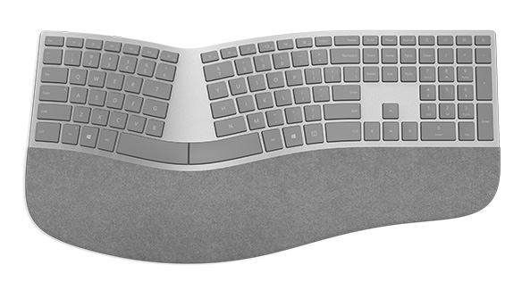 Amazon | $130One step up from the Sculpt Ergonomic is Microsoft's newer Surface Ergonomic model, which boasts a higher-end fit and finish and a palm rest made of a suede-like material called Alcantara. Unlike the Sculpt—which uses a USB receiver for wireless connectivity—the Surface keyboard boasts Bluetooth 4.0 connectivity, and Windows Central also found an improvement in the quality of the keys, which they describe as more satisfying. At $130, though, you may want to try both to see if the improvements are enough to justify the costs for you.