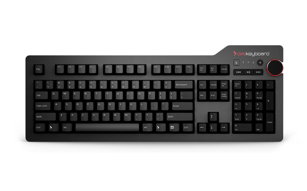 "Amazon | $170 (Quiet), $166 (Clicky)The latest in the highly-regarded Das Keyboard line, the Das Keyboard 4 Professional is the most refined version of the keyboard to date, and one that PC Gamer says makes ""an already superb keyboard even better."" While it keeps things relatively sleek and basic in terms of design, you do get a nice big volume knob, as well as a built-in USB 3.0 hub. You also get your choice of quiet or clicky key switches for the somewhat hefty $170 asking price, and no backlighting for typing in the dark."