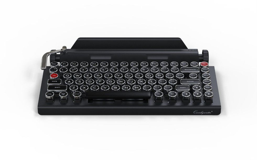 Qwerkywriter | $280It doesn't come cheap, but the Qwerkywriter (marked down to $280 from $350 as of this writing) will no doubt please anyone looking for a keyboard with some truly old-school inspiration.While its design really lays the gimmick on thick, PC Magazine was impressed with its sturdy metal construction and high-quality mechanical key switches (a rarity on a Bluetooth keyboard), although it notes the angle of the integrated tablet stand may be too steep for some. It's not strictly a tablet keyboard, however, and is just at home paired with a desktop or laptop computer.