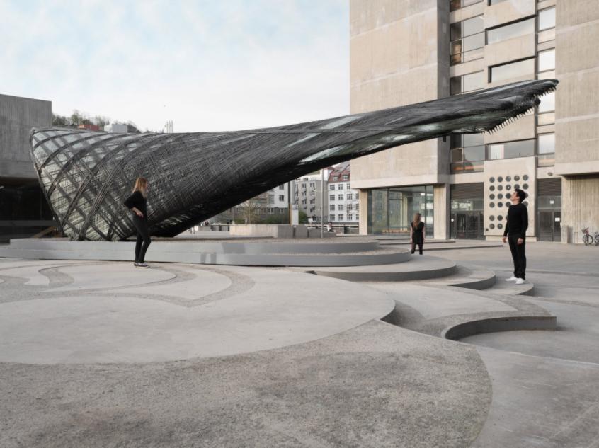 This Futuristic Carbon Fiber Pavilion Was Built By Robots