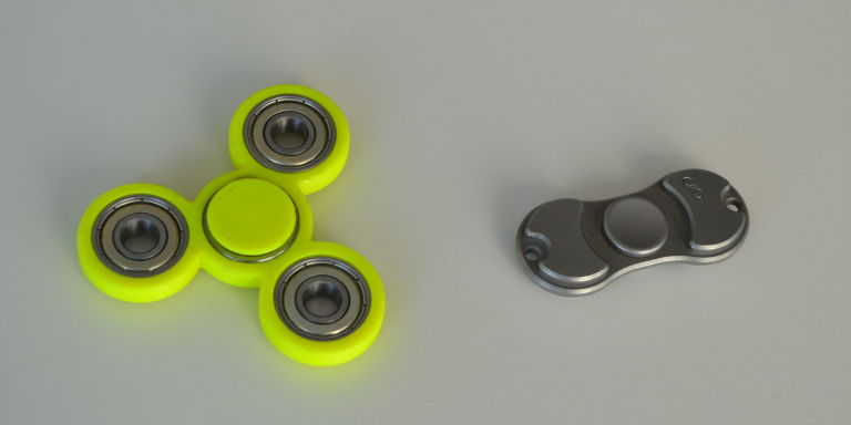 These two examples only scratch the surface of the wide, wide array of fidget  spinners available from dozens of companies with hundreds of designs.