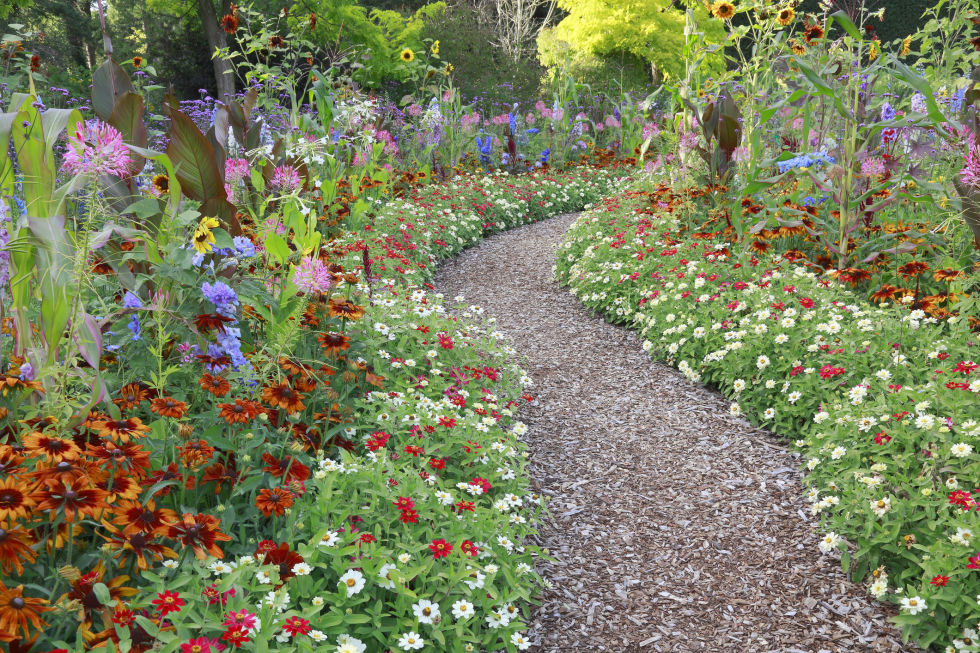 instead of trampling down the lawn and making a makeshift path of dead grass between your patio fire pit and garden create an attractive walkway using