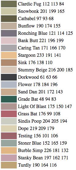 when an ai tries to pick paint color names, magic happens