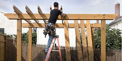 Diy pergola plans how to plan and post a pergola - Construir pergola de madera ...