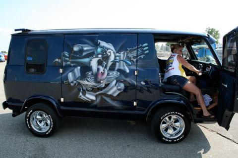 old school custom chevy vans