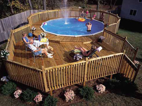 Weekend projects diy projects for your yard for Build your own pool deck
