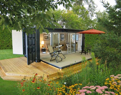 Shipping Container Cabin 45 shipping container homes & offices - cargo container houses