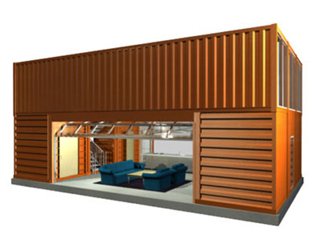 45 shipping container homes offices cargo container houses. Black Bedroom Furniture Sets. Home Design Ideas