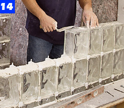 Build A Curved Wall Glass Block Shower