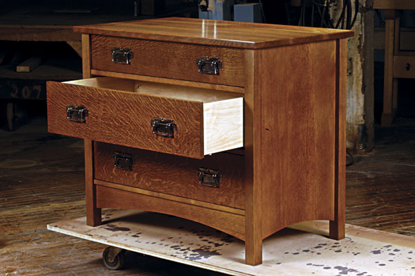Build our arts crafts dresser for Craftsman furniture plans
