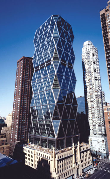 Hearst tower our home certified gold by green building for Norman foster strutture