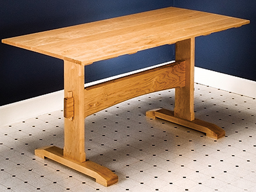 How to build a trestle table simple diy woodworking project for How to build a project plan