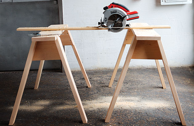 How To Build Sawhorses Simple Diy Woodworking Project