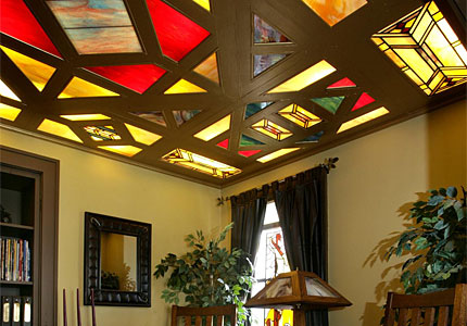 Woodworker Moves Beyond Furniture With Stained Glass Ceiling Diy Rally Update